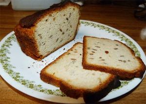 Slices of gluten-free bread after two days in the refrigerator