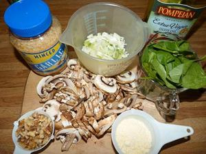 Ingredients for sorghum and mushroom pilaf