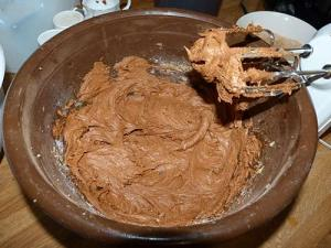 Cookie dough in bowl