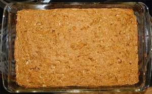 Sorghum Carrot Quinoa Bars - Fresh Out of Oven in glass baking dish