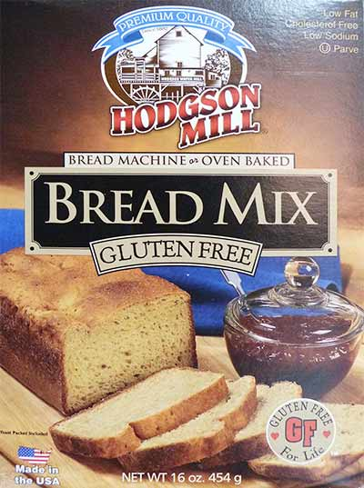 Front of Hodgson Mill Gluten-free Bread Mix box