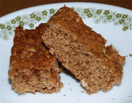 Sorghum Carrot Quinoa Bars on plate