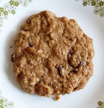 Close up of cookie on plate