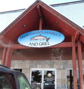 Front of Fisherman's Market and Grill in Coure d'Alene, ID