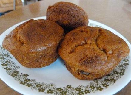 Sun Flour Mills Pumpkin Muffins on a plate