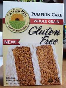 Sunflower Mills Pumpkin Cake Mix front of box