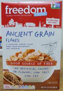 Ancient Grain Flakes box front.