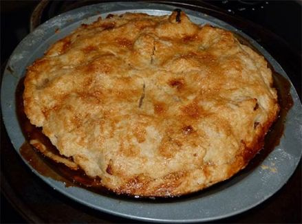 Baked apple pie.