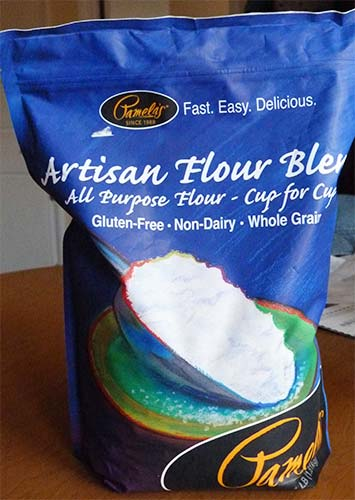 Front of Pamela's Artisan Flour bag.