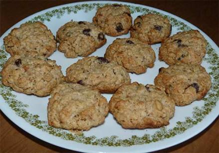 Gluten-free oatmeal cookies on a plate.