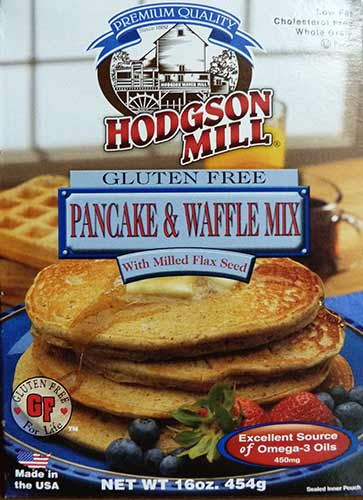 Front of Hodgson Mill Gluten Free Pancake Mix box.